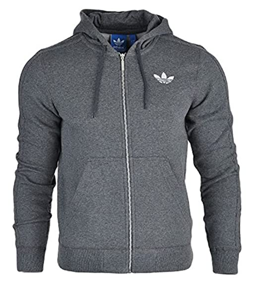 Neue Herren Adidas Originals SPO Hoodie Hooded Flock Jacke – Schwarz, Grau,  Anthrazit xl a81635fe0e