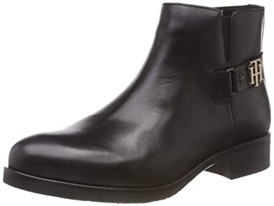 Tommy Hilfiger Th Buckle Leather Bootie, Botines Femme, Noir (Black 990), 3593b2f70e8b