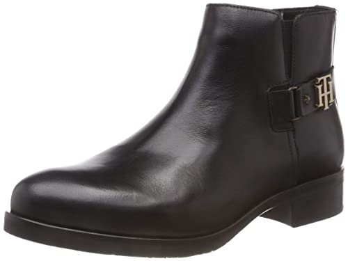Tommy Hilfiger Th Buckle Leather Bootie, Botines Femme  Amazon.fr   Chaussures et Sacs 9974de502a27