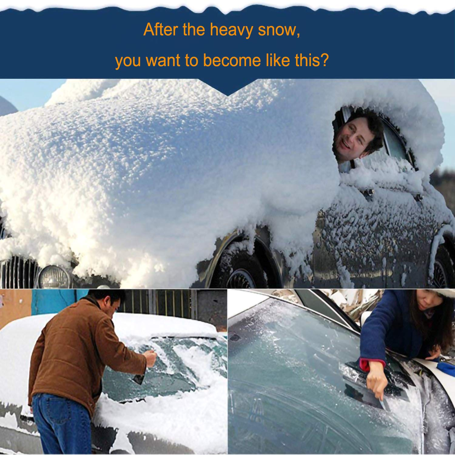 Tree Sap Pollen Van or Automobile Protects Car from Sun Fallen Leaves 57 X 39 57 X 39 BestWa Car Windshield Snow Cover /& Sun Shade Cover Ice and Frost In All Seasons SUV Fits Most Car Truck Snow Dust