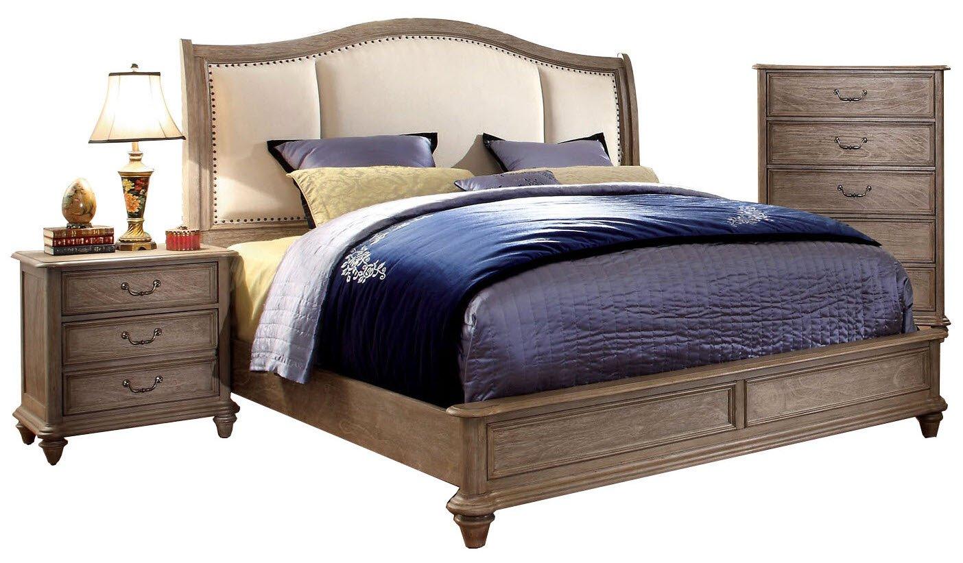 new concept a430b 23019 Amazon.com: Perth Rustic Natural Tone Cal King Platform Bed ...