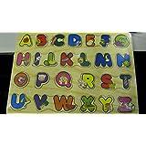 Puzzle de letras de madera educacional. Perfecto para que los niños aprendan el alfabeto