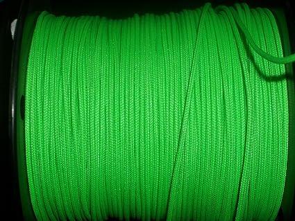 60X Custom Strings Flo Green BCY #24 D Loop Rope Release Material 5'