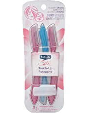 Schick Silk Touch Up Women's Exfoliating Face Razor & Eyebrow Trimmer, Pack Of 3, 3 Count