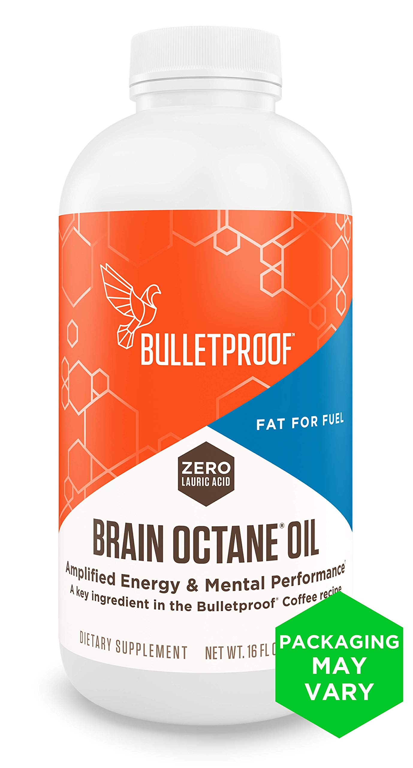 Bulletproof Brain Octane Oil, Reliable and Quick Source of Energy, Ketogenic Diet, More Than Just MCT Oil (16 Ounces) by Bulletproof
