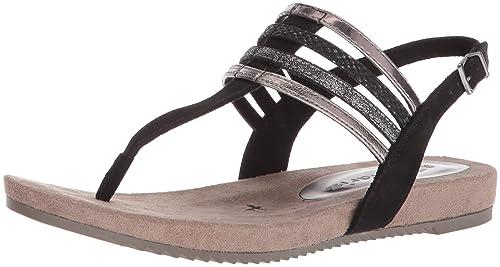 Tamaris Women''s 28634 Sling Back Sandals, (Black Comb), 3.5