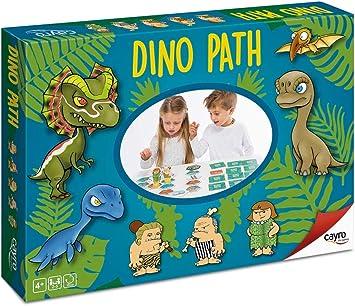 Cayro - Dino Path - Juego de Mesa Infantil y Primaria - Juego de Madera - Juego de Memoria, Desarrollo de Habilidades sociales y comunicación - Juego de Mesa (153): Amazon.es: Juguetes y juegos
