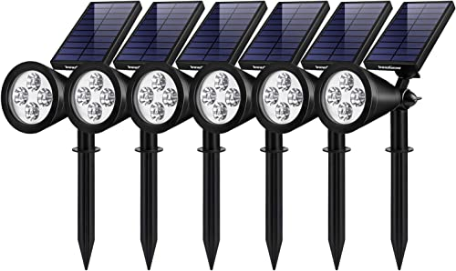 InnoGear Solar Lights Outdoor, Upgraded Waterproof Solar Powered Landscape Spotlights 2-in-1 Wall Light Decorative Lighting Auto On Off for Pathway Garden Patio Yard Driveway Pool, Pack of 6 White