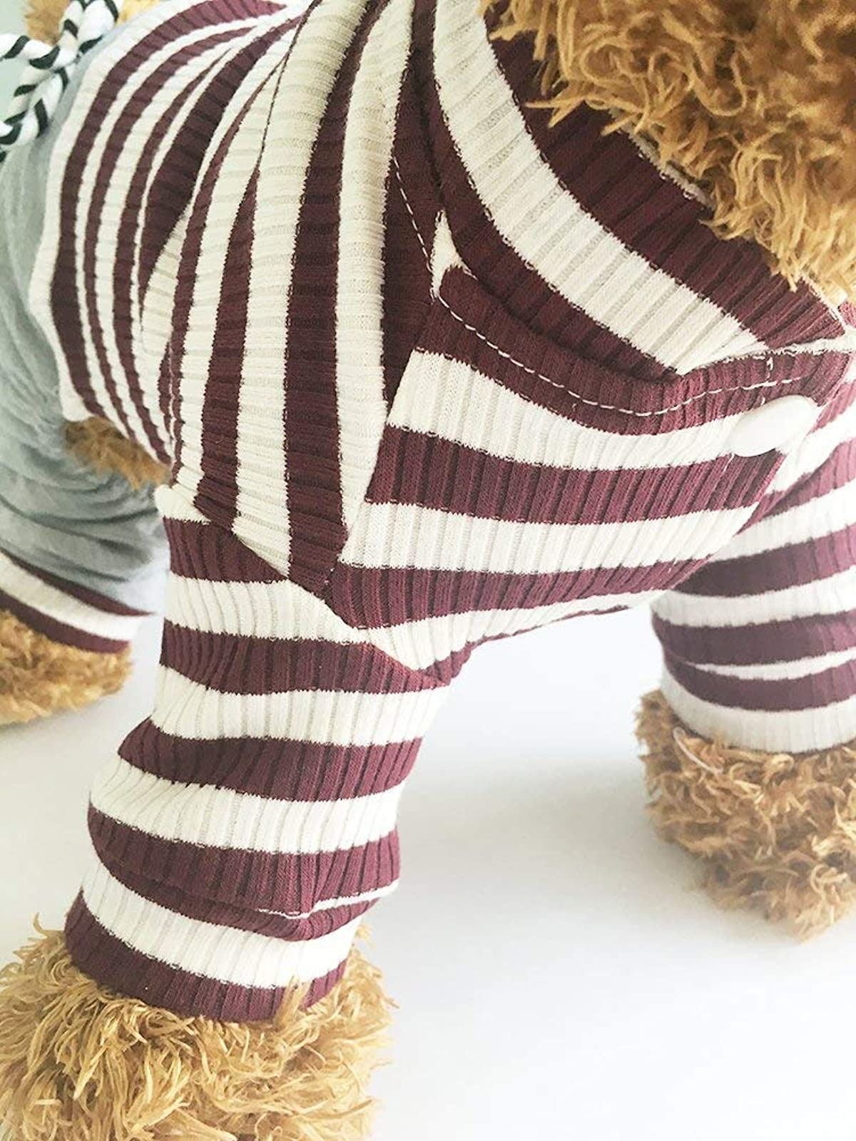 EastCities Dog ClothesSmall Dogs Pajamas Puppy OutfitBrown - 1