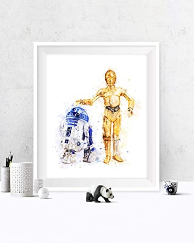Any 3 Framed Robot Watercolor Prints