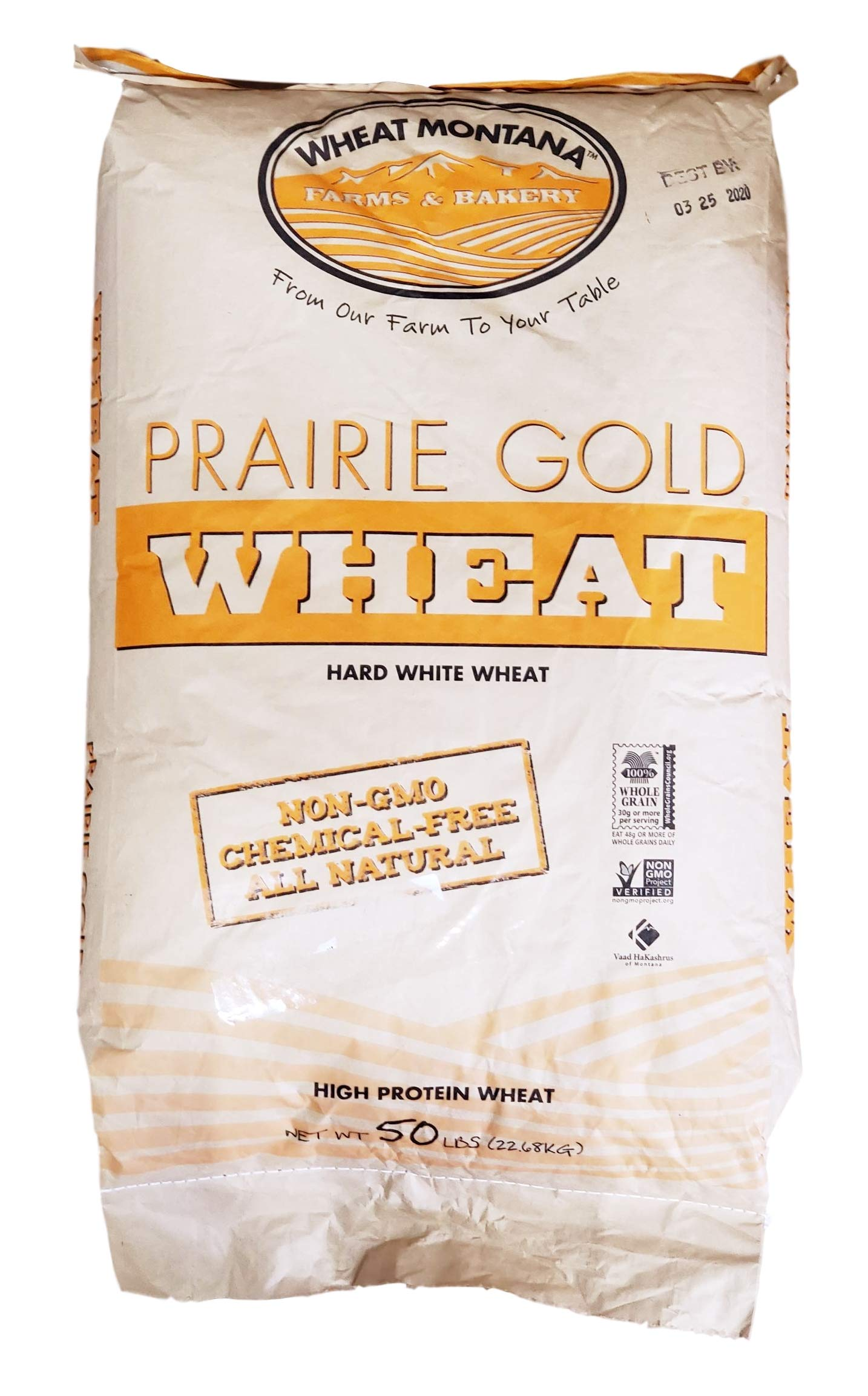 Wheat Montana - Prairie Gold Wheat Berries - 1 pack - 50lb bag by Wheat Montana