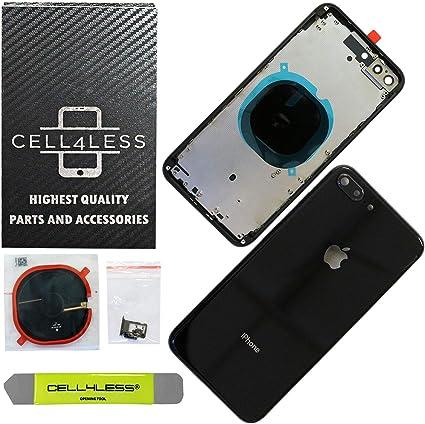 Amazon.com: CELL4LESS Conjunto de carcasa trasera de metal ...
