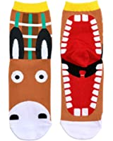 Socks Fairytale Creatures Donkey Made With Cotton & 15% Spandex by JOE COOL