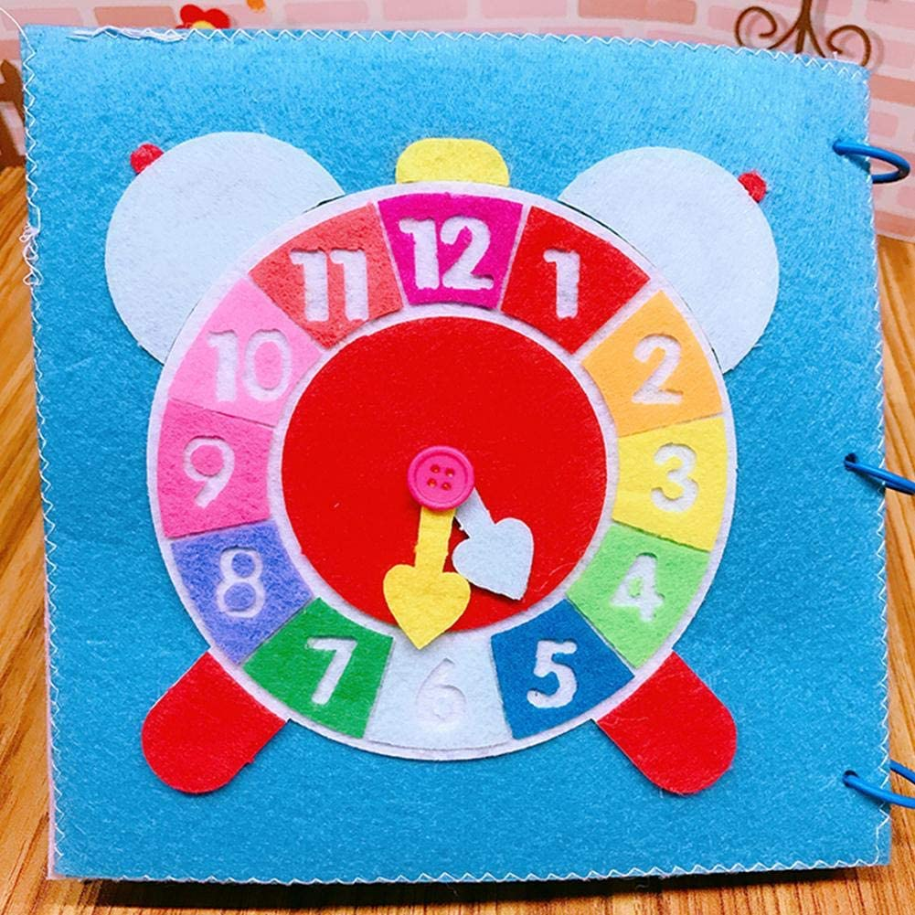 OTTF Livre en Tissu pour Enfant,Livres en Tissu Doux Pli Livre /Éducatif Lavable 3D Manuel Jouet Cognitif D/éducation Pr/écoce