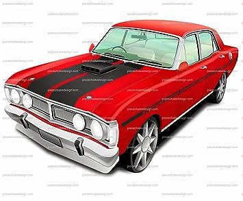 Amazon Com 8 Red Black Classic Muscle Car Birthday Edible