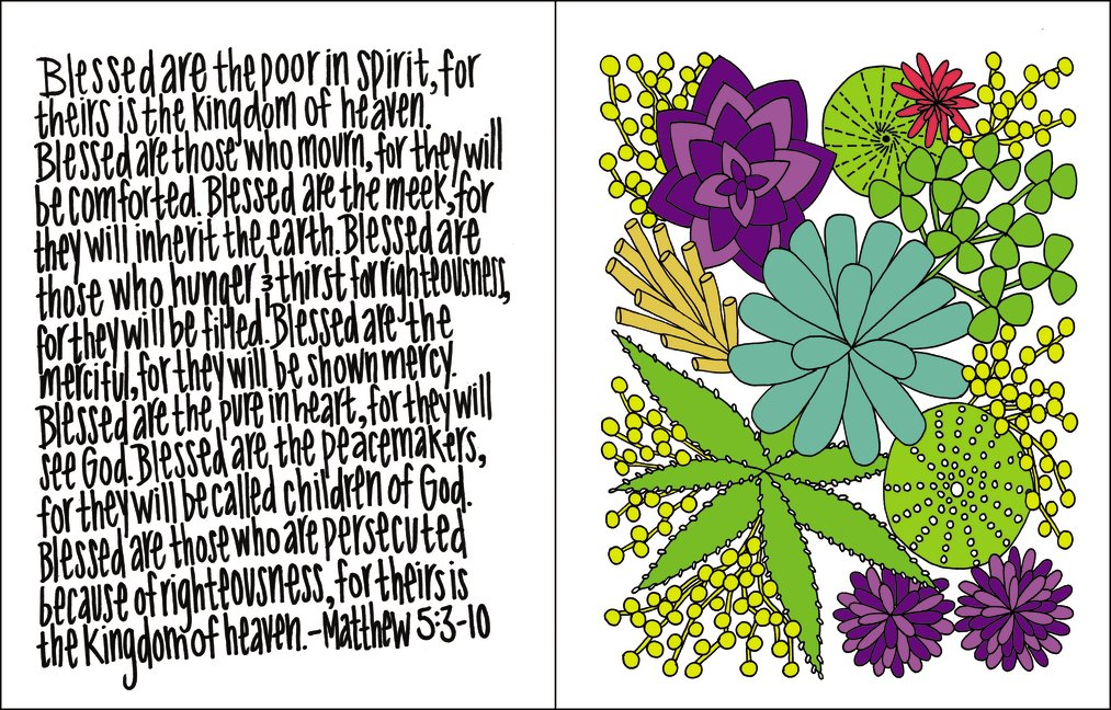 NIV Beautiful Word Bible for Girls, Hardcover, Floral: 500 Full-Color Illustrated Verses by HarperCollins (Image #7)