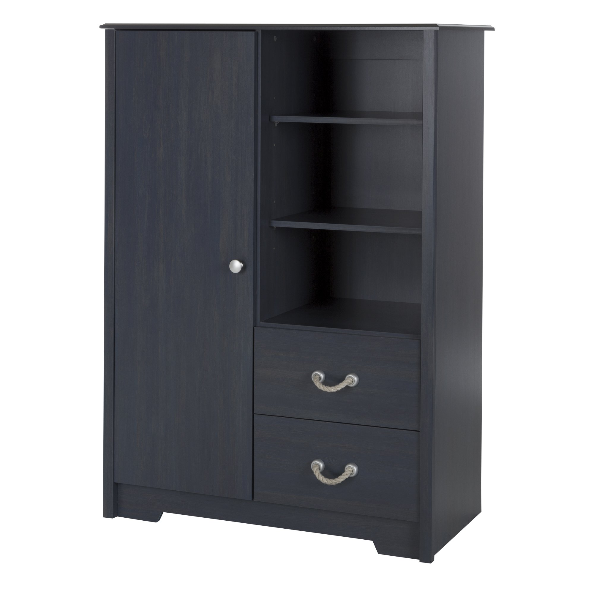 South Shore Aviron Armoire with Drawers, Blueberry by South Shore