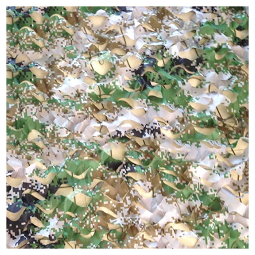 Qjifangwzh Camouflage Nets, Outdoor-Dschungel zum Dekorieren Versteckter Deckung Jagd, mehrere Größen