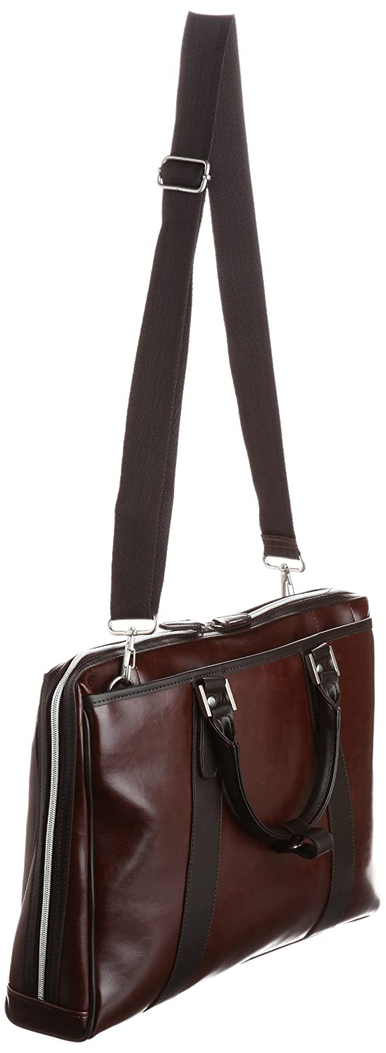 Overdrive Business bag leather A4 corresponding 2WAY 0390 dark brown