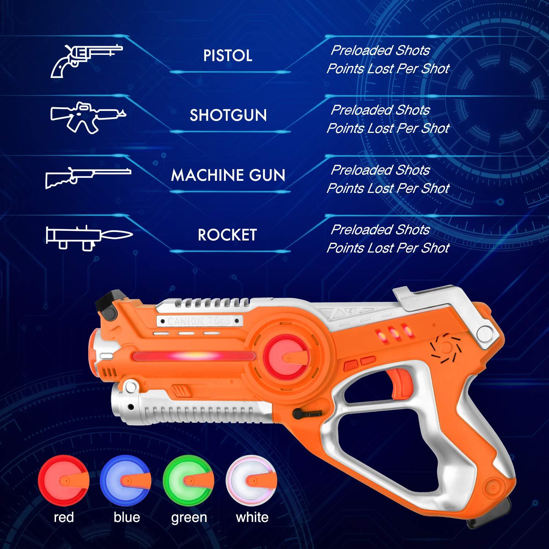 Laser Tag Guns Sets, Super Joy Infrared Laser Tag Sets with 4 Guns and 4 Vests, Laser Tag Gun Toys Indoor Outdoor Game for Boys Girls by Super Joy (Image #2)