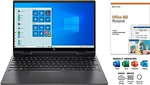 "Newest HP Envy x360 2-in-1 Laptop, 15.6"" FHD IPSTouch-Screen Display, 6 Core AMD Ryzen 5-4500U, Webcam, WiFi 6, Windows 10 with Microsoft Office 365(1Year) (32GB RAM   512GB PCIe SSD)"