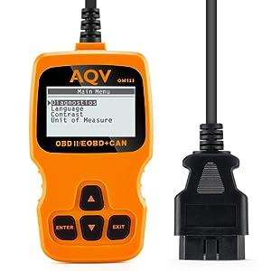OBD2,AQV Auto Diagnostic Diagnostic Scanner OBD2 Lecteur Code Pour Voiture Auto Scanner Voiture Code Reader Outils Pour Les Diagnostic Voiture OBD2 Scanner Outils Voiture
