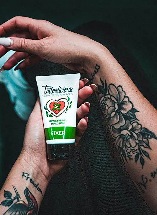 Tattoolicious DOUBLE FIXER - Crema Calmante para tatuajes recién ...