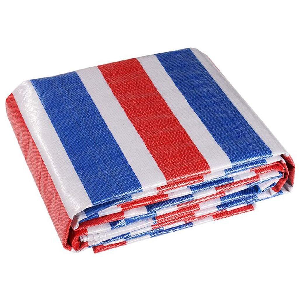 Plane LINGZHIGAN Verdicken Extra Dicke Farbe Streifen Tuch Poncho DREI-Farben-Tuch Blaume Band Kunststoff Blaume regendichte