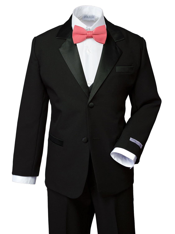 No Tail ERF202-SNS-202.BK-RD Spring Notion Boys Classic Fit Tuxedo Set