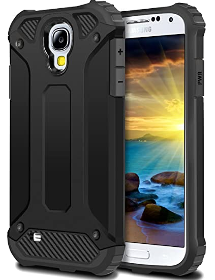 check out 83b58 e6f27 Galaxy S4 Case,Wollony Rugged Hybrid Dual Layer Hard Shell Armor Protective  Back Case Shockproof Cover for Galaxy S4 Case - Slim Fit - Heavy Duty - ...
