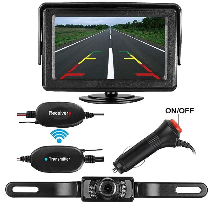Amazon.com: Emmako Backup Camera Wireless and Monitor Kit 9V-24V ...