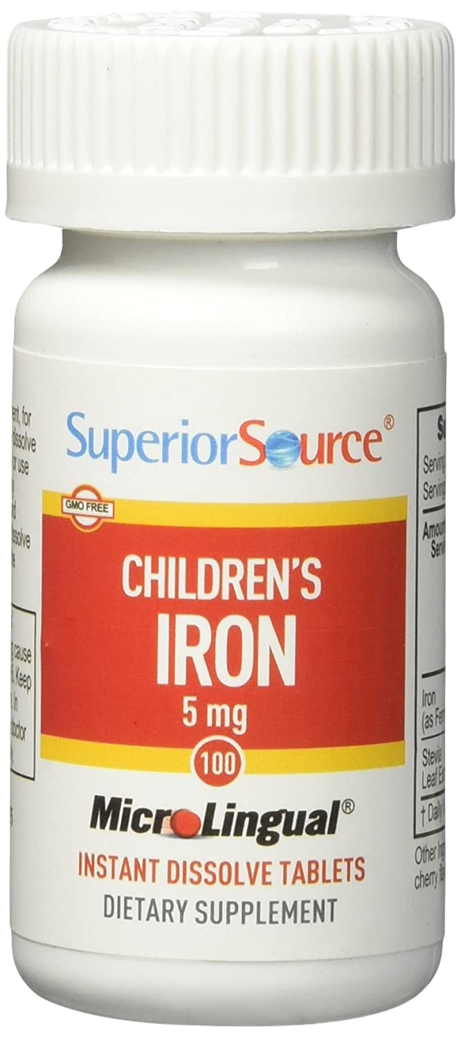 Superior Source Children's 5 mg Iron Tablets