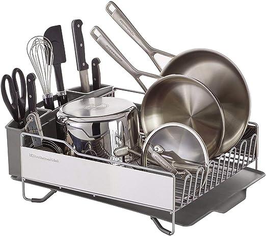 KitchenAid KNS896BXGRA Full Size Dish Rack Light Grey