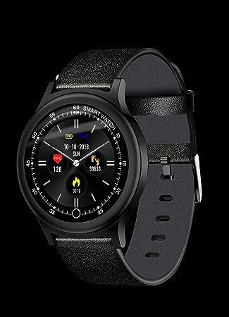 Klicop Q28 Pantalla a Color Reloj Inteligente, Reloj de Pulsera Inteligente Monitor de presión Arterial de Ritmo cardíaco para niños Mujeres Hombres Reloj ...