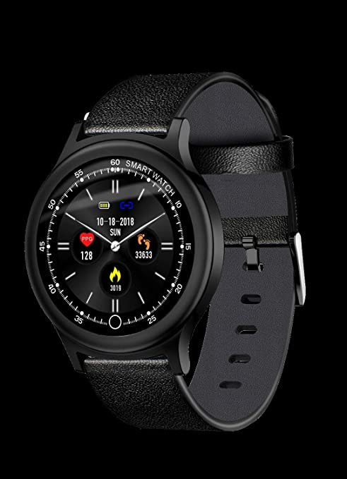 Klicop Q28 Pantalla a Color Reloj Inteligente, Reloj de Pulsera Inteligente Monitor de presión Arterial