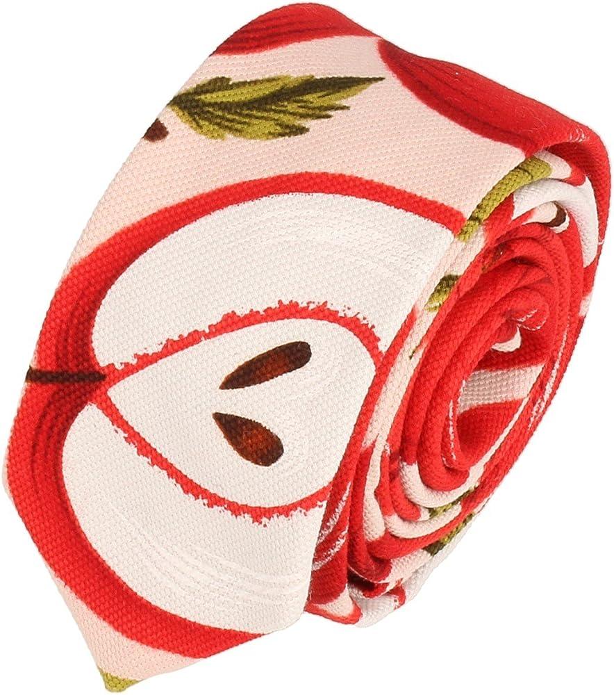 Snobbop Corbata delgado las manzanas de color rojo 5 cm: Amazon.es ...