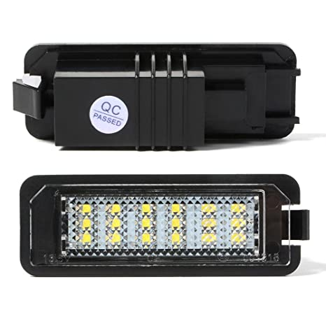 Efikeco 2pcs licencia placa lámparas de luz con decodificador, Ultra Bright 3528 SMD