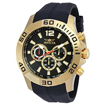 aab3a549d Image Unavailable. Image not available for. Color: Invicta Pro Diver  Chronograph Black Dial Black Silicone Mens Watch 20300
