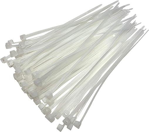Kabelbinder 200 Mm X 4 8 Mm Hochwertige Nylonbinder Kabelbinder Weiß Baumarkt