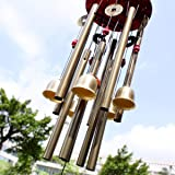 Chinois étonnants 10 Tubes traditionnels 5 Bells Bronze Cour Jardin En plein air Wind Chimes 85cm Apportez argent Chance, meilleur cadeau