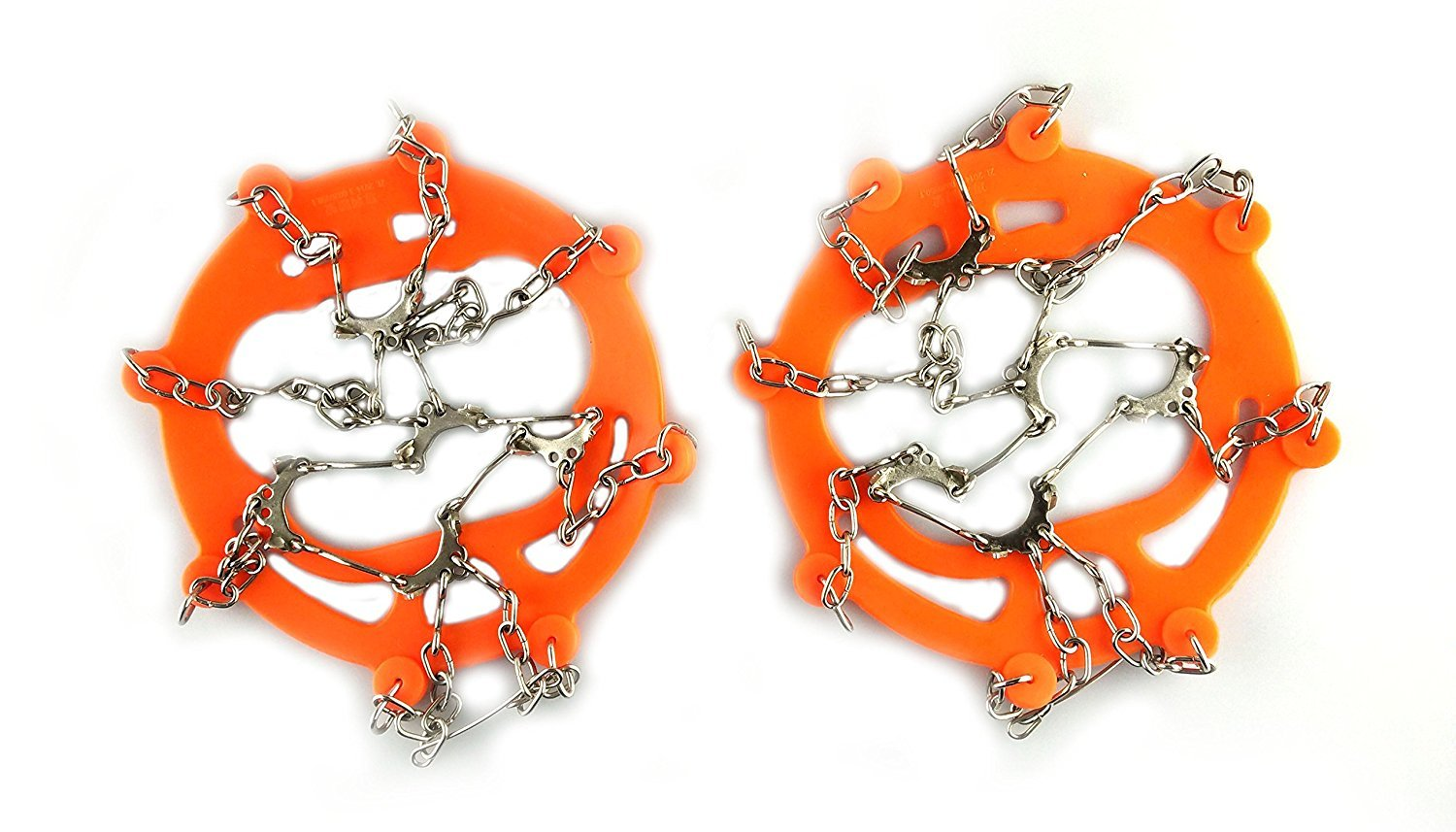 Cos2be Claw Crampon Ice Cleats Anti slips Stainless Steel Spikes For Hiking, Walking, Jogging and Outdoor Activity. (ORANGE)