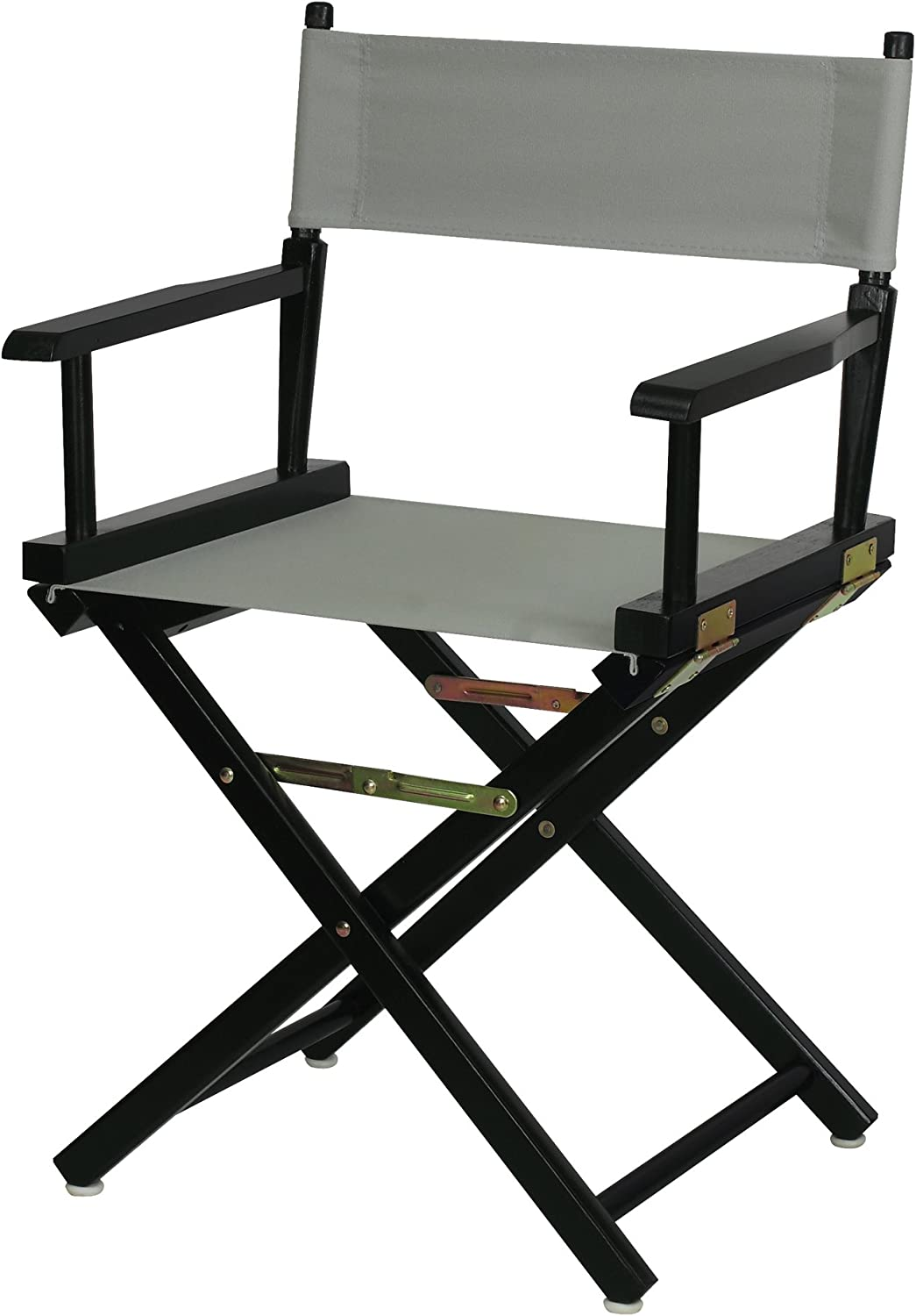 "Casual Home 18"" Director's Chair Black Frame with Grey Canvas"
