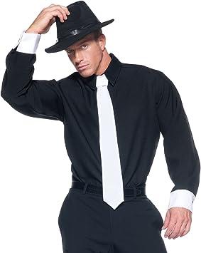 UNDERWRAPS Mobster - Camisa de Disfraz para Hombre, Color Negro: Amazon.es: Juguetes y juegos