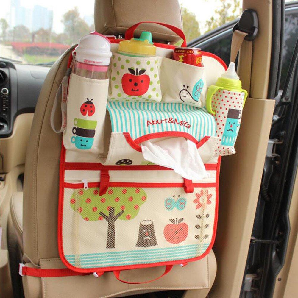 Bolsas de pantalla t/áctil para Ipad Multi-bolsillos para el beb/é Vine Asiento trasero del coche Organizador Ni/ños Viajes Organizador ordenado