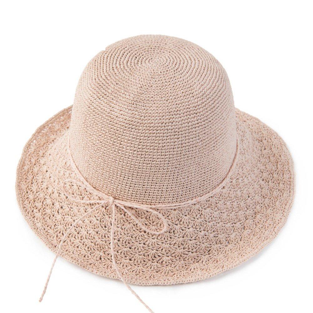 Summer Beach hat,Big straw hat Sun shade hat Outdoor Folding Sun hat-E M