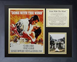 Legends Never Die Gone with the Wind Movie Art Framed Photo Collage, 11 by 14-Inch