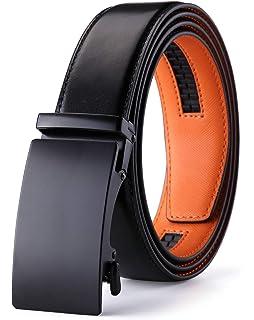 Amazon.com: Cinturón de cuero con trinquete para vestido de ...