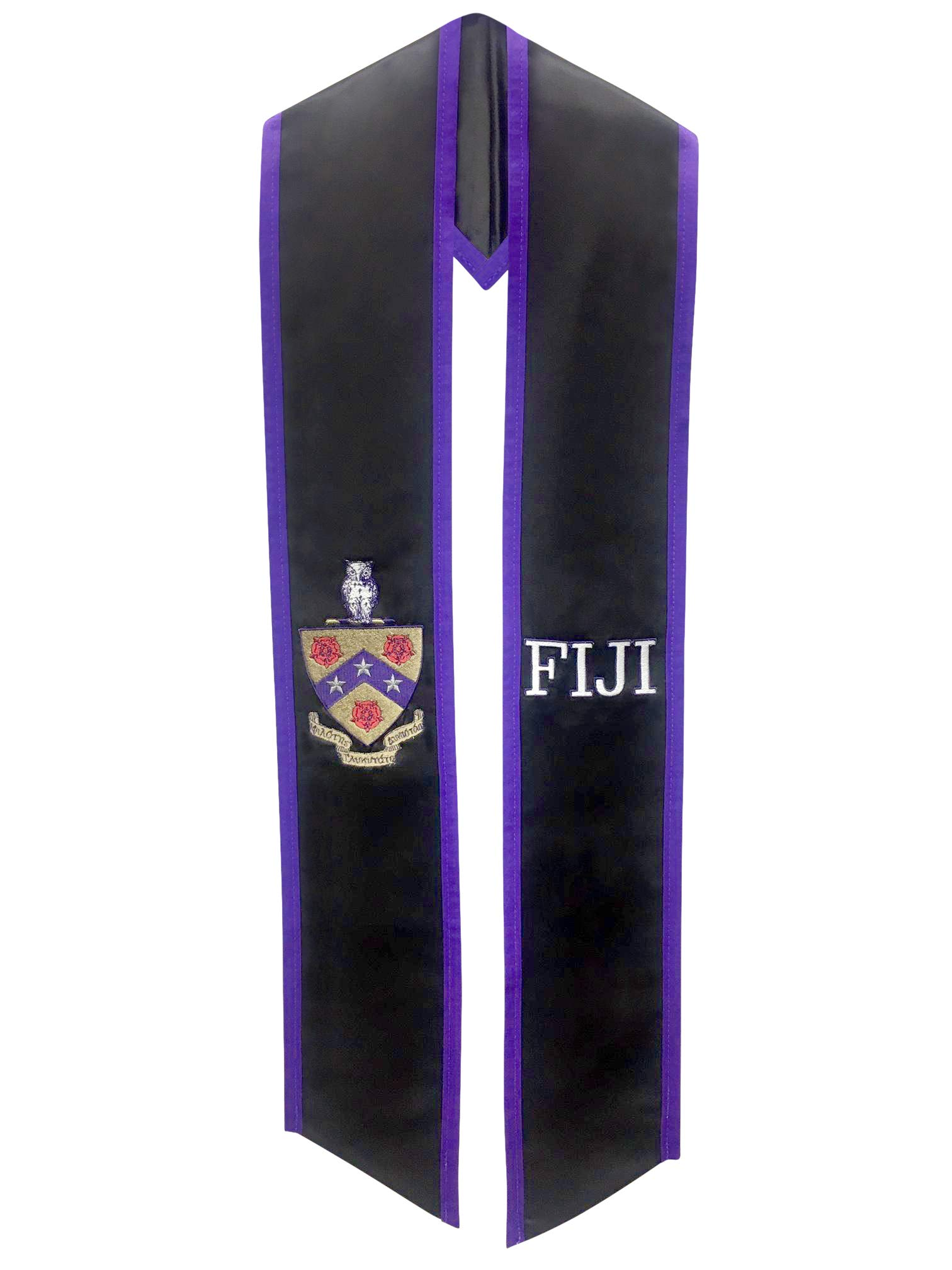 Phi Gamma Delta FIJI Fraternity Deluxe Embroidered Graduation Stole