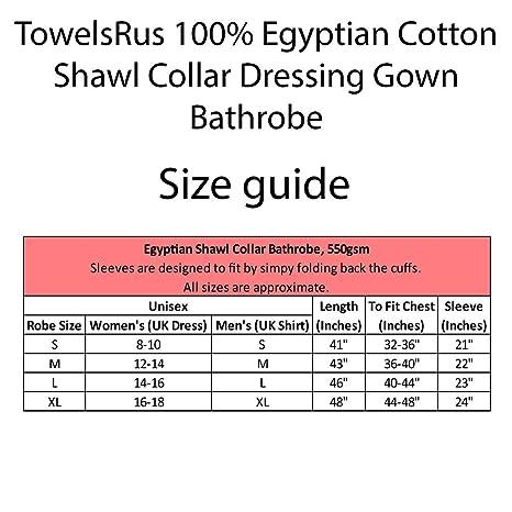 b9acef5950 TowelsRus 100% Egyptian Cotton Shawl Collar Unisex Dressing Gown Towelling  Medium White  Amazon.co.uk  Kitchen   Home