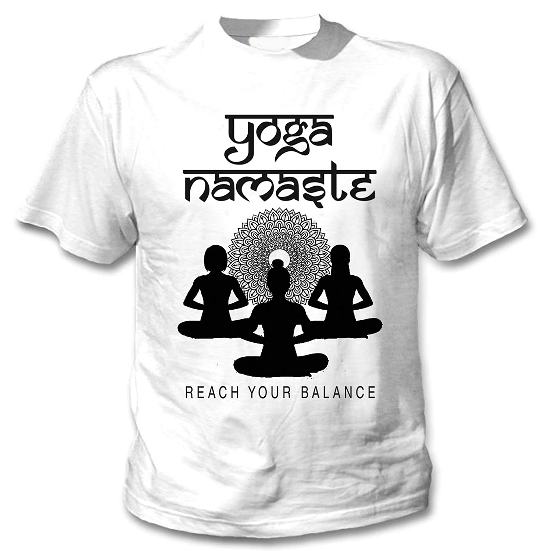 teesquare1st Yoga Namaste 7 Camiseta Blanca para Hombre de ...